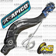 Apico Black Blue Rear Brake Pedal Lever For Husqvarna FC 350 2014 MotoX Enduro