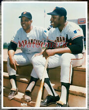 MLB San Francisco Giants Willie Mays Willie McCovey Color 8 X 10 Photo Picture