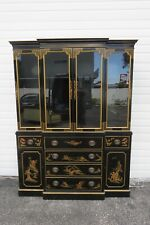 Chinoiserie Hollywood Regency Large China Cabinet Cupboard by Drexel 2224