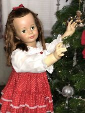 Vintage Patti Playpal Spitcurl Hair Doll Ideal Christmasy! Original Shoes