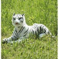 Lovely Simulation White Tiger Stuffed Plush Toy Animal Series Bedtime Doll Xmas