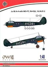 Owl Decals 1/48 JUNKERS Ju-88A-4 with MG-FF 10./NJG 2 Night Fighter