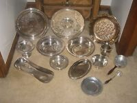 ANTIQUE VINTAGE LOT SILVER SILVERPLATE COLLECTION WM ROGERS TOWLE GORHAM +