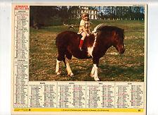 CALENDRIER, ALMANACH PTT - ANNEE 1976 - JE ME SERS D' ANIMAUX POUR INSTRUIRE..