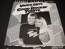 Cbc Television in Canada 1988 Promo Poster Ad Good Rockin' Tonite & Video Hits