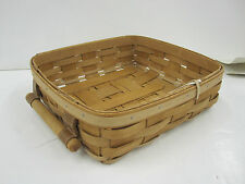 Longaberger 2011 Small Entertaining Basket + Lidded Protector - WARM BROWN - New