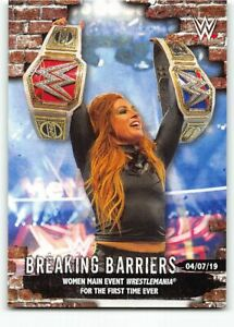 2020 Topps WWE Women's Division Breaking Barriers BB-10 Becky Lynch