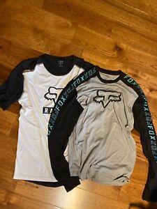 2 Fox Racing Ranger Foxhead Men's Mountain Bike Jersey size Large Ex Cond