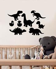 Vinyl Wall Decal Cartoon Dinosaurs Cub Children's Room Decor Stickers (3263ig)