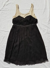 EX CON Alannah Hill Size 12 Dress Black Born with Style 100% Silk Sweetheart LBD