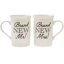 Mr and Mrs Fine China Mugs Set - Wedding Gift idea - Gift Boxed