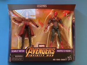 "Marvel Legends 6"" Vision Scarlet Witch 2 Pack Avengers InfinityWar Wandavision"