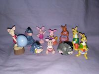 Walt Disney's Piglet Rabbit Eeyore Kanga Cake Toppers PVC Figurine Applause Lot