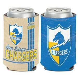 LOS ANGELES CHARGERS CLASSIC LOGO SOFT FOAM CAN BOTTLE KOOZIE COOZIE COOLER
