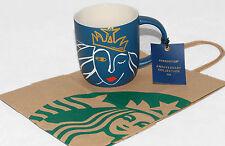 STARBUCKS - 2016 - ANNIVERSARY Mermaid SIREN Collection - Blue Cup / Mug *NEW