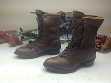 MADE IN USA RED HEAD KILTIE BROWN LEATHER LACE UP ENGINEER TRAIL BOSS BOOTS 11D