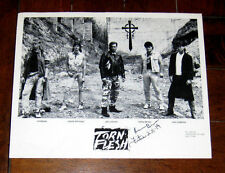 Christian Metal Band TORN FLESH Promo Press 8 X 10 Photo Autograph Signed 1980s