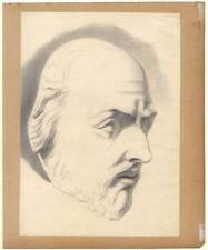 1906-1969 Industrieller-arbeitgeber-portrait-kohlezeichnung Von Victor Friese Art