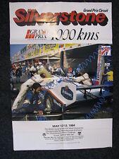 Poster Silverstone 1000 Kms May 12/13 1984 + Rothmans Porsche 956 (gevouwen)