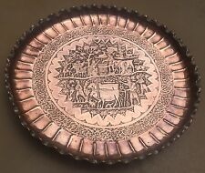Magnificent Vintage Persian qalamzani  CopperTray/Table/plate
