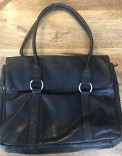 Samsonite  Genuine Leather Luggage Handbag Shoulder Bag Travel Laptop Black