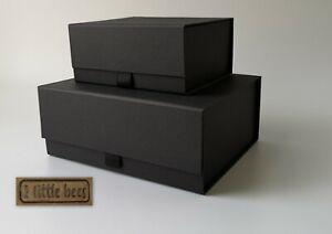 Luxury Magnetic GIFT BOX SMALL MEDIUM White Black Wedding Bridesmaid Gift UK