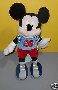 "Soft Velour Plush Kohls Jumping Beans 18"" Disney Mickey Mouse Football Player"