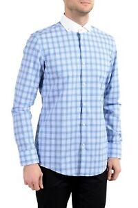 "Hugo Boss ""Jennis"" Men's Slim Plaid Multi-Color Long Sleeve Dress Shirt"