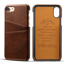New Card Slot Holder Skin Leather Case Phone Back Cover For iPhone 6 6S 7 Plus