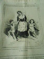 Caricature 1876 - Les enfants terribles