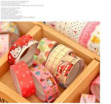 5X Colorful  DIY Decorative tape Sticky Paper Masking Tape Adhesive Free shiping