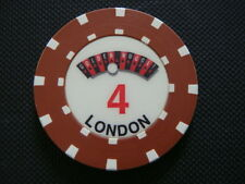 The Golden Nugget Casino London Roulette Chip - Brown - Table Number 4