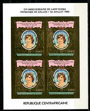 Centre Afrique Lady DIANA birthday 21 1982 Gold Foil Or Michel 850 B COTE 140 E