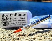 Doc Bullions Silver Shot - .999 Fine Silver - 1/4 Troy Ounce