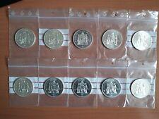 lot 10 pièces argent 50 francs Hercule TTB/SUP
