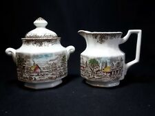 Kensington Staffords Shakespeare's Sonnets Creamer and Sugar Bowl with Lid
