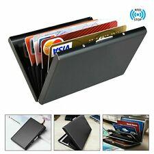 Black Metal RFID Blocking Wallet Slim Anti-Scan Contactless Credit Card Holder