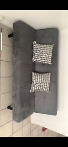 gray futon sofa bed full Slightly Used Great Condition