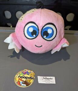 "Pink Kiko - Neopets Rare Vintage 5"" Plush (2006 - Snap Mfg #70149, Limited Too)"