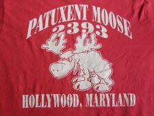 Vtg 50/50 Patuxent Moose Pocket Tee T Shirt L Hollywood Maryland Taco Bell