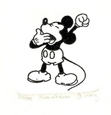 MICKEY MOUSE BLACK AND WHITE HAND PAINTED LTD ED ETCHING