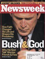 Newsweek Mag George W. Bush & God March 10, 2003 102219nonr