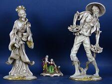 SCULTURA COPPIA CINA Geisha ceramica BATIGNANI s PATTARINO CARBET MARIONI FAENZA