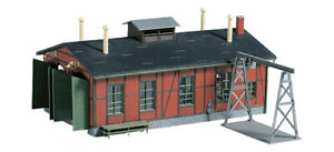 Auhagen 11355 Narrow gauge engine shed with gantry crane H0e 1/87 scale