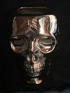 Body & Body Works Halloween 2021 Gold Skull Soap Holder NEW NWT