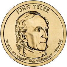 2009 John Tyler President Dollar Philadelphia Denver Position  2 Coins Unc