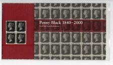 GB 2000 Penny Black Facsimile Reproduction Stamp Presentation Pack VGC
