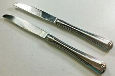Monet Gorham Silver Stainless Outline Edge 2 Modern Solid Dinner Knives 141248