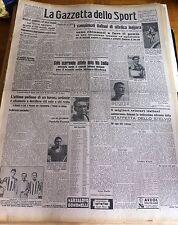 GAZZETTA DELLO SPORT  1942 FANFULLA LODI ATLETICA