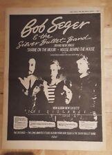 Bob Seger Silver Bullet Band Distancia 1983 Prensa Anuncio Full Page 39x28cm